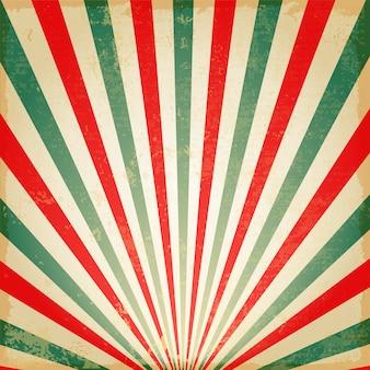 Vintage multicolor aumentando o sol ou o raio de sol, o sol explodiu o design de fundo retro