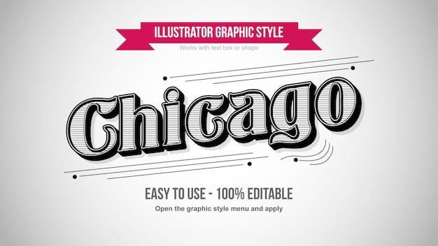Vintage old school print pattern efeito de texto editável em preto e branco