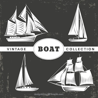 Vintage pack de barcos decorativos