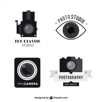 Vintage pacote logos câmera