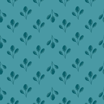 Vintage padrão sem emenda com doodle decorativo ramos pequeno ornamento.