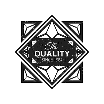Vintage preto monocromático rótulo textura grunge decoração banner retrô em fundo branco