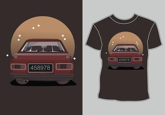 Vintage retrô de carro de camiseta