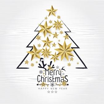 Vintage retrô feliz natal e feliz ano novo