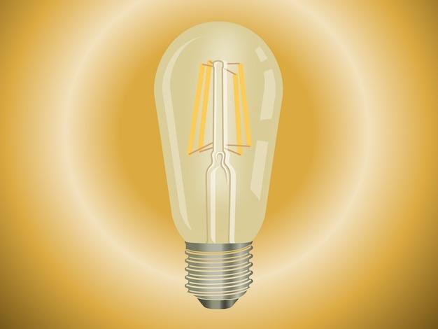 Vintage retrô lâmpada lâmpada