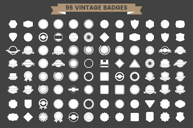 Vintage retro vector logo para banner