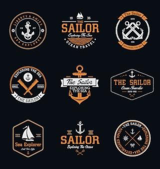 Vintage sailor badges