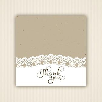 Vintage style obrigado design de cartão