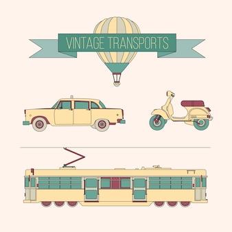Vintage transporta pacote