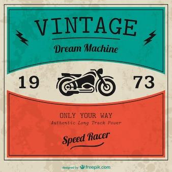 Vintage vector moto