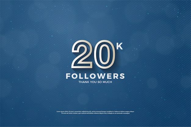 Vinte mil seguidores com figuras tridimensionais que surgiram