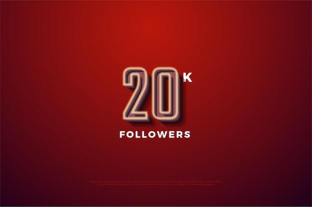 Vinte mil seguidores com uma figura tridimensional