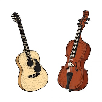Violão e violoncelo