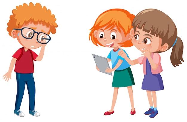 Violência doméstica com criança bullying os outros isolados
