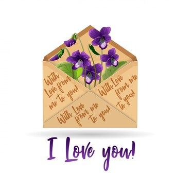 Violeta de envelope de papel kraft