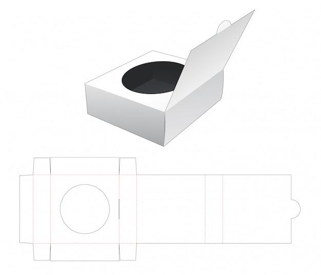 Virar embalagem com modelo de janela cortada em círculo