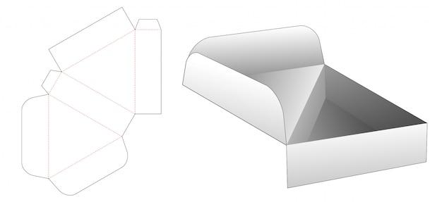 Virar modelo de corte e vinco de caixa triangular