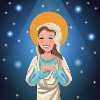 Virgin mary catolic bright background