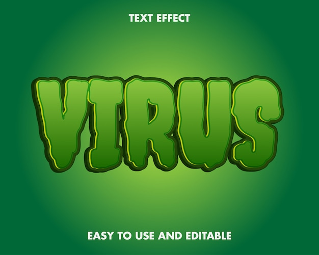 Virus corona text effect editável e fácil de usar