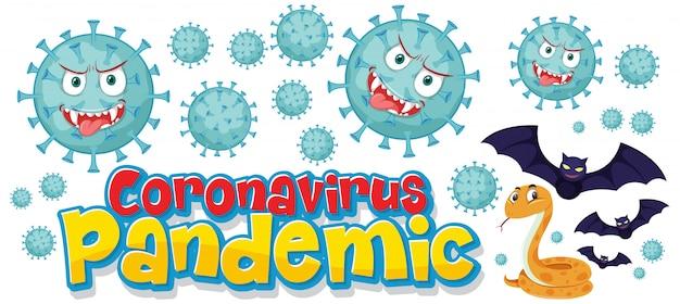 Vírus covid-19 de morcego a cobra