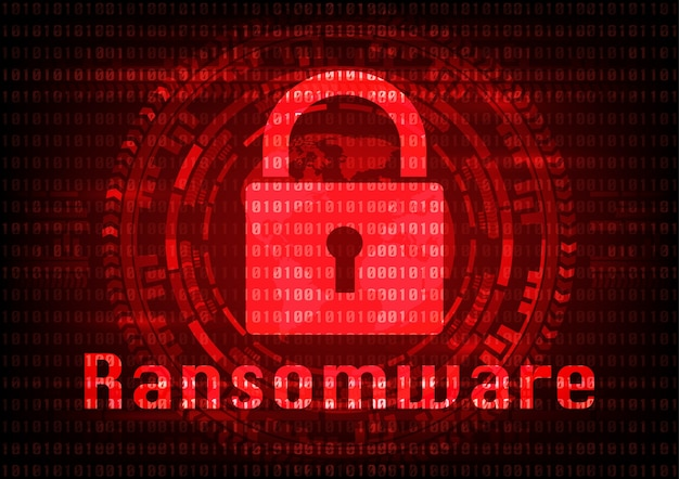 Vírus de malware ransomware abstrato