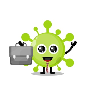 Vírus funciona mascote de personagem fofo