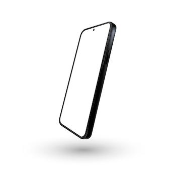 Visão 3d detalhada e realista do telefone isolado