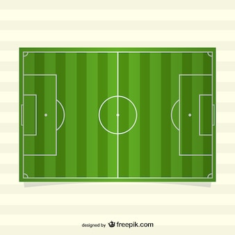 Visão de cima do campo de futebol do vetor