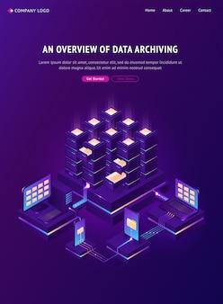 Visão geral do banner de arquivamento de dados