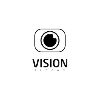 Vision logo fotografia símbolo