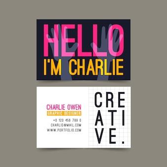 Visite as saudações criativas do cartão da empresa