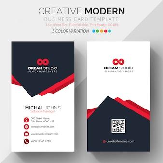 Visite o modelo de cartão com 5 variações de cor