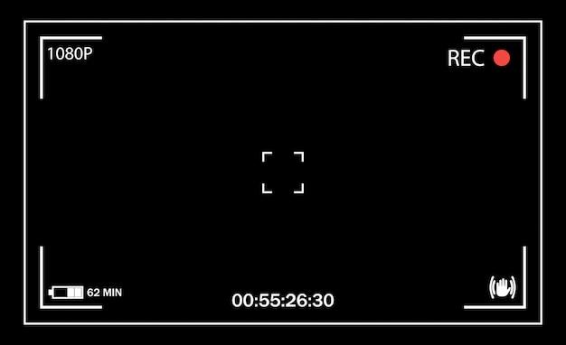 Visor da câmera. interface de usuário