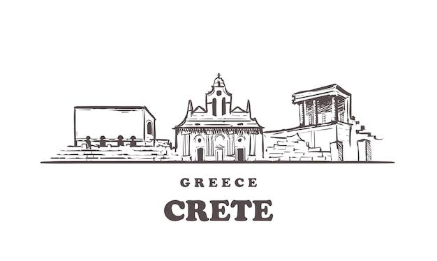 Vista da cidade de creta, grécia