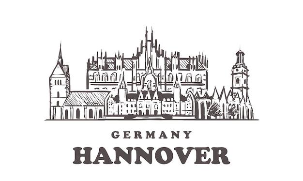 Vista da cidade de hannover, alemanha