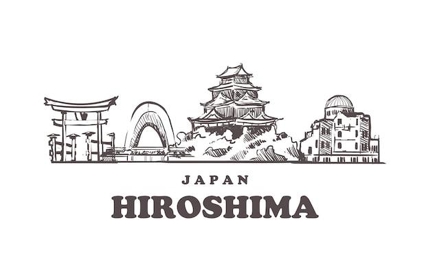 Vista da cidade de hiroshima, japão