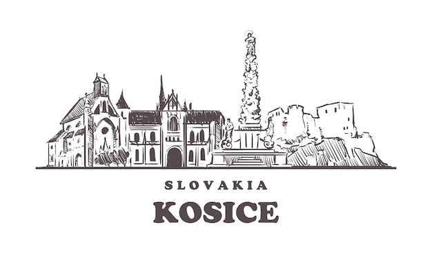 Vista da cidade de kosice, eslováquia