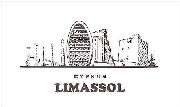 Vista da cidade de limassol, chipre