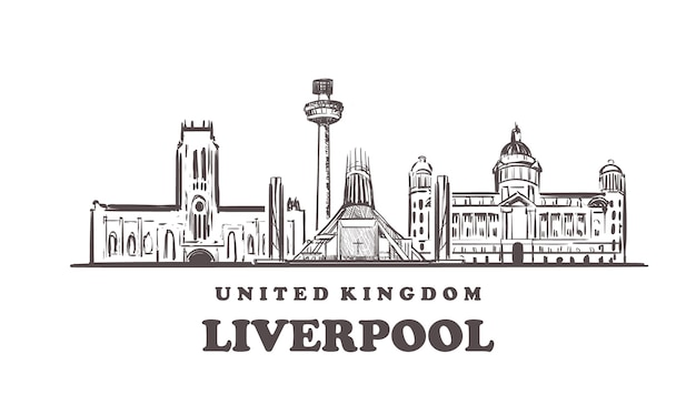 Vista da cidade de liverpool, reino unido