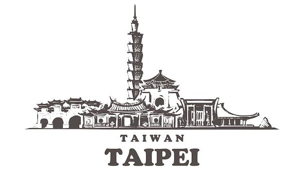 Vista da cidade de taipei, taiwan