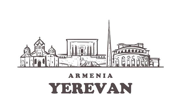 Vista da cidade de yerevan, armênia