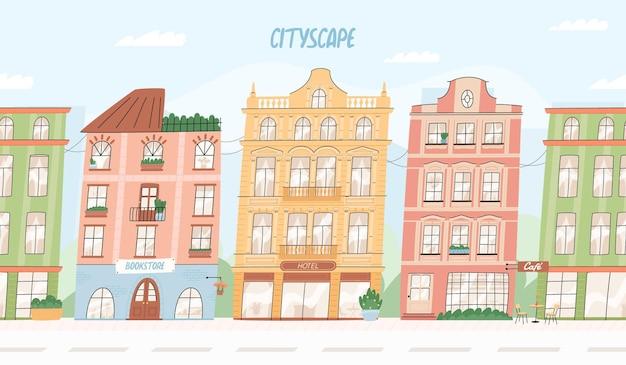 Vista da cidade europeia perfeita