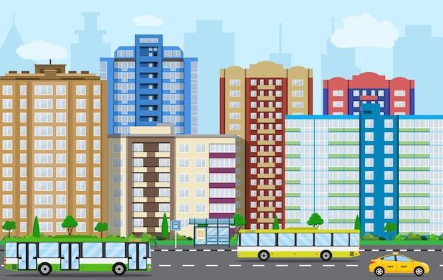 Vista da cidade moderna.