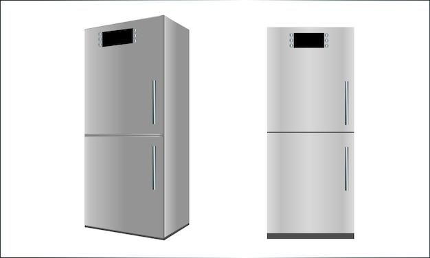 Vista da geladeira em duas posições