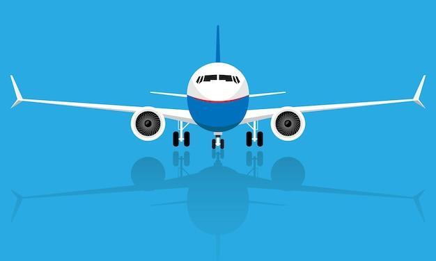 Vista de avião de uma aeronave voadora