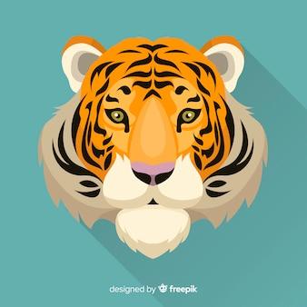 Vista dianteira, fundo tigre