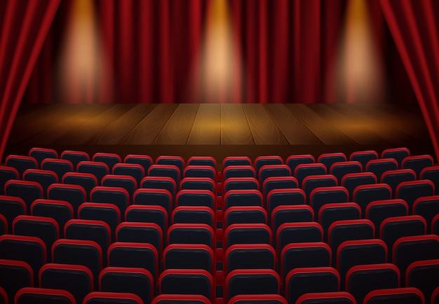 Vista frontal do cinema. imagem enfraquecida. mock up, conceito de anúncio