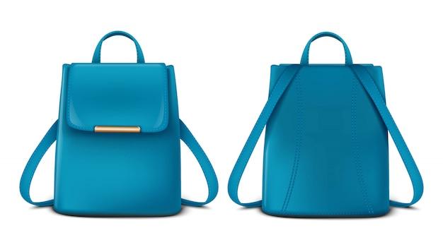 Vista frontal e traseira de uma mochila ou mochila.