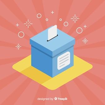 Vista isométrica da caixa de eleição