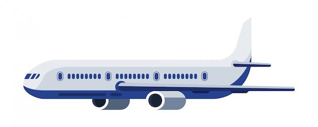 Vista lateral de um avião